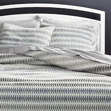 carmelo patterned duvet covers and pillow shams crate and barrel