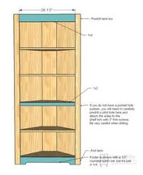 Build A Wood Shelving Unit by Ana White Build A Corner Cupboard Free And Easy Diy Project