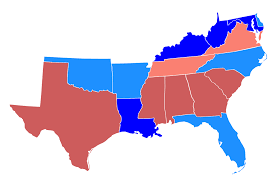 Southeastern Usa Map by Politics Of The Southern United States Wikipedia