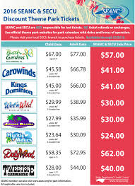 Costco Six Flags Tickets Seanc Discount Theme Park Tickets Now Available At Secu Branches