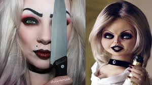halloween bride of chucky tiffany makeup tutorial shlemonade
