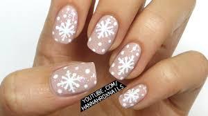 nail art christmasflake nail art winter ciibca nails tutorial oh