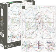 Aris Metro Map by Paris Metro Jigsaw Puzzle Puzzlewarehouse Com