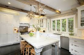 White Beadboard Ceiling by Exposed Beams Ceiling Transitional Kitchen Benjamin Moore