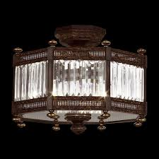art lamps 584640 eaton place semi flush mount crystal ceiling fixture