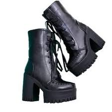 womens combat boots uk fereshte chunky cleated platform sole womens retro