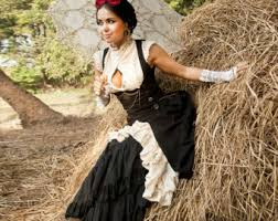 Size Burlesque Halloween Costumes Razzle Steampunk Blouse Bride Burlesque Shirt Cabaret
