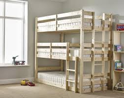 Solid Pine Bunk Beds Bunk Beds 3 High Bunk Beds Design Home Gallery