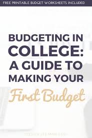 college student budget example and college of financial planning