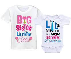 personalized big shirts matching sibling