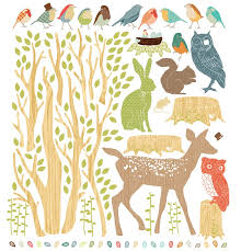 Fabric Wall Decals For Nursery Woodland Earthy Fabric Wall Decals By Mae