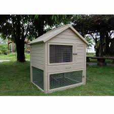 Rabbit Hutch Plastic New Age Pet Eco Concepts Huntington Rabbit Hutch With Pen Petco