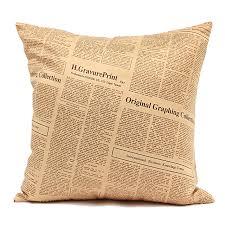 taie d oreiller pour canapé 3d housse de coussin décoratif taie d oreiller lettres style vintage