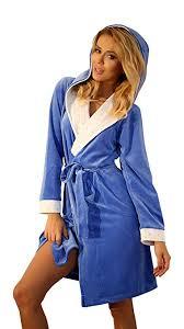 femme de chambre chaude robe de chambre chaude a capuche pour femme peignoir court en coton