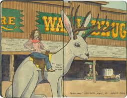 wall drug drawn the road again wall drug sketch by chandler o leary