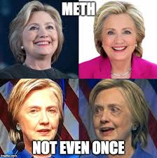 Meth Not Even Once Meme - looks like she got hit by a train a trump train insert bad pun