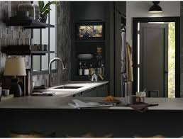 sensate touchless kitchen faucet kohler k 72218 cp sensate touchless kitchen faucet polished chrome