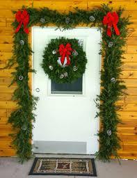 garland and wreath door decorations set plants beautiful