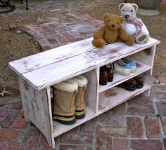 Small Shoe Bench by Wood Shelf Storage Shoe Bench Entryway Hall 365hallway Canada