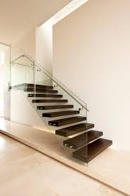 american oak modern stair glass steel architecture