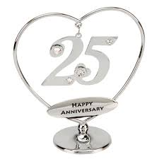 25th anniversary gifts for parents 25th anniversary cake topper 25th silver anniversary gift or cake