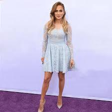 pretty jennifer lopez short lace prom dresses with long sleeve