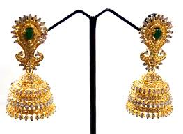jhumki style earrings in gold excellent emerald jhumka earrings made with silver gleam jewels
