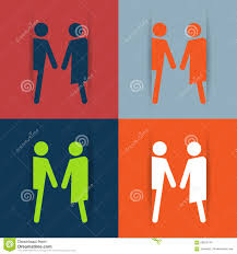 Male Female Bathroom Signs by Restroom Male And Female Sign Vector Illustration Stock Vector