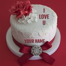 write name on iloveyou propose cake online fre