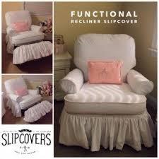 Sofa Recliner Slipcovers White Recliner Slipcover Foter