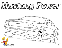 snowman mustang coloring picture fast car road