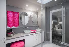Grey White And Purple Bathroom Trendy Bathrooms That Combine Gray And Color In Sensational Style