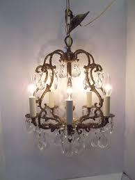 crystal bird cage chandelier 1940s crystal birdcage chandelier