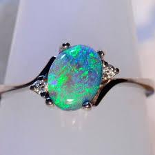 Opal Wedding Ring by Best 25 Black Opal Ring Ideas On Pinterest Australian Black