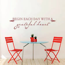 Dining Room Wall Quotes by Aliexpress Com Buy Battoo Wall Decals Begin Each Day With A