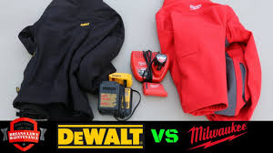 heated motorcycle jacket milwaukee vs dewalt heated jackets which is better youtube