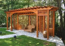 wooden pergola with screen lattice pergola with lattice gallery
