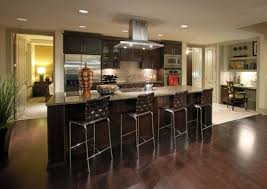 flooring modern kitchen with kitchen cabinets and stainless steel