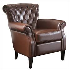 Leather Club Chair Best Tufted Brown Leather Club Chair Chair Home Furniture