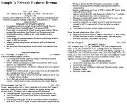 Sample Network Engineer Resume by Network Engineer Resume Example Printable Job Application