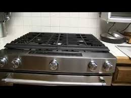 Kitchenaid Gas Cooktop Accessories Kitchenaid 30 In 5 8 Cu Ft Slide In Gas Range With Self