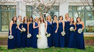 navy blue bridesmaids dresses gorgeous navy blue bridesmaid dresses to inspire you cherry