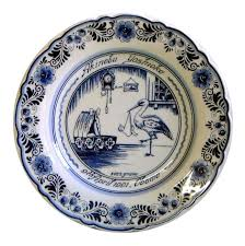 birth plates delft blue birth plates delft blue plate delft