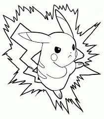 a full power attack of pikachu colouring page a full power attack
