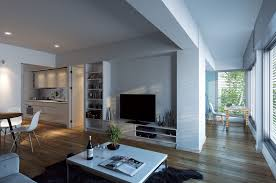 make your floor plan dark brown wooden floor connected by lcd tv on white wooden tv