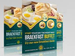 brunch flyer template breakfast restaurant flyer template