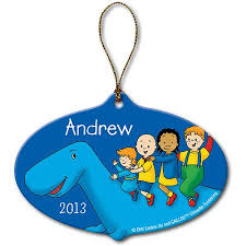 personalized caillou dinosaur ornament walmart