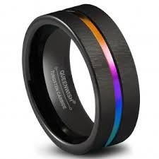 black and wedding rings queenwish 8mm mens tungsten wedding bands black silvering brushed