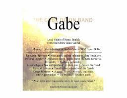 mean names gabe means man of god