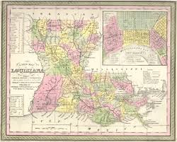 Map Of New Orleans Area by Antique Maps Of Louisiana